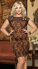 Plus Size Columbia Animal Illusion Club Dress