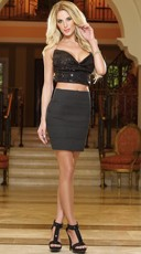Heat Of The Moment Bandage Club Skirt