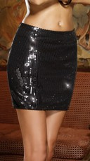 Falling Star Sequin Club Skirt