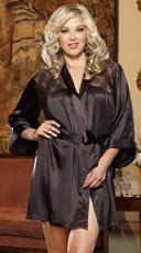 Plus Size Sensual Elegance Charmeuse Robe