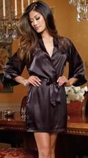Sensual Elegance Charmeuse Robe