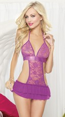 Flirty Girl Apron Chemise And G-String