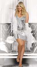 Plus Size Life's A Party Flapper Costume
