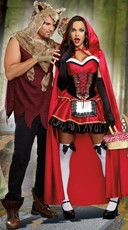Little Red And The Wolf Couples Costume