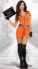 Sexy Locked Up Inmate Costume