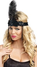 Feathered Flapper Head Piece