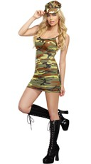Hot Camo Mini Dress