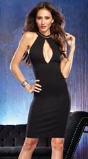 Pillage and Plunge Black Club Dress
