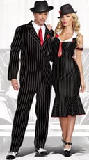 Deadly Gangsta Couple Costume
