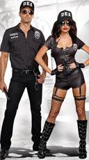 DEA Secret Agent Couple Costume