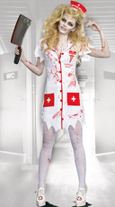 Norma Lee Crazy Zombie Nurse Costume