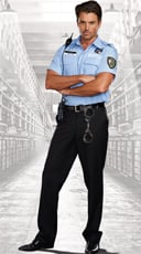 Men's Prison Guard Costume