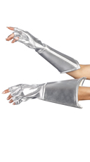 Silver Fingerless Gloves