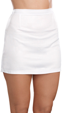 White Wet Look Skirt