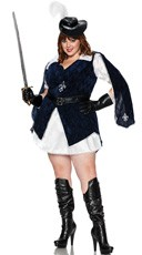 Plus Size All For One Musketeer Costume