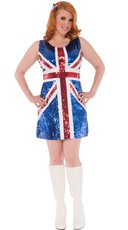 Plus Size Union Jack Brit Costume