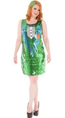Plus Size Sequin Luck O' The Irish Costume