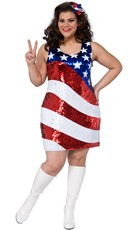 Plus Size Sequin American Spirit