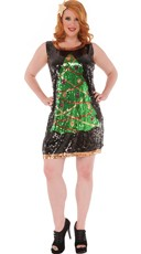 Plus Size Sequin Holiday Cheer Costume