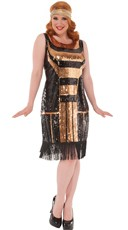 Plus Size Dazzling 1920s Flapper Costume