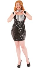Plus Size Sequin Tux Costume