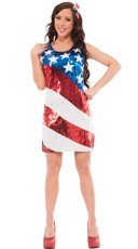 Sequin American Spirit Costume