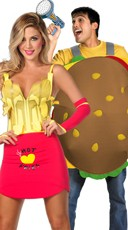 Hamburger And Fries Couples Costume