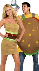 Hamburger Hotties Couples Costume