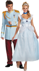 Classic Prince Charming and Cinderella Couples Costume