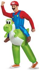 Men's Mario Riding Yoshi Costume