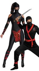 Midnight Ninja Couples Costume