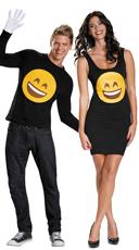 Smile Emoji Couples Costume