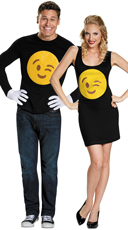 Wink Emoji Couples Costume