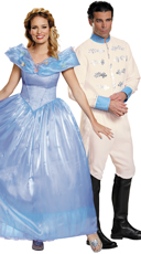 Deluxe Prince Charming and Cinderella Couples Costume