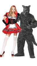 Riding Hood And Wolf Couples Costume