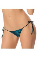 Metallic Ruched Back Bikini Panty