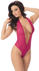 Sexy Plunge Teddy with Heart Back G-String