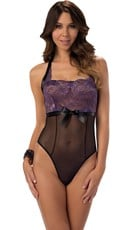 J'Adore Sheer Mesh and Lace Teddy
