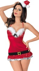 Plus Size Mr. Santa's Naughty Helper Holiday Chemise