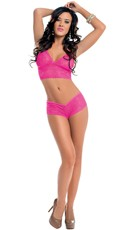 Neon Lace Cami Set