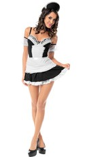 Plus Size Head French Maid Costume