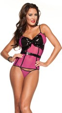Sequin Bow Front Cami and G-String