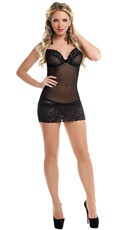 Chiffon and Lace Chemise