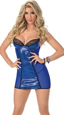 Dazzling Diva Royal Blue Chemise Dress
