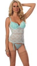 Lacy Lady Underwire Push Up Bustier Set