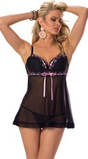 Fatal Attraction Black Mesh Babydoll