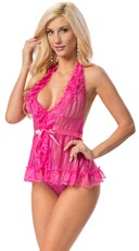 Sexy In Pink Babydoll Set