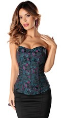 Strapless Full-Length Floral Corset