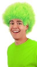 Fuzzy Green Wig