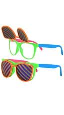 Neon Flip Up Glasses